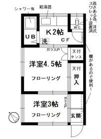 永澤アパート2階Fの間取り画像