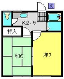 コーポ滝川Ⅱ1階Fの間取り画像