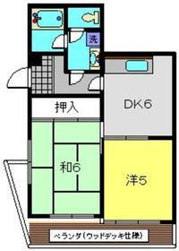 エスポアールK1階Fの間取り画像