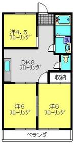 小柳マンション2階Fの間取り画像