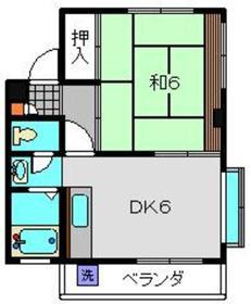 スギヤマパレス3階Fの間取り画像
