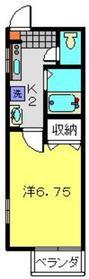 カーサルナ1階Fの間取り画像