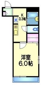 メゾンフルール3階Fの間取り画像