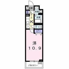 豊田駅 徒歩26分5階Fの間取り画像