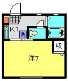 シャトーメイワ2階Fの間取り画像