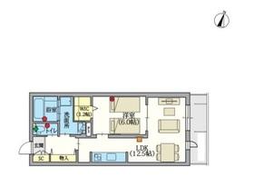 へーベルVillage 鶴見市場4階Fの間取り画像