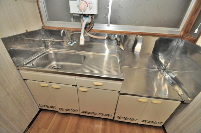 大蓮東5-5-12 貸家 洗面台がないのでキッチンの流しと共同です。