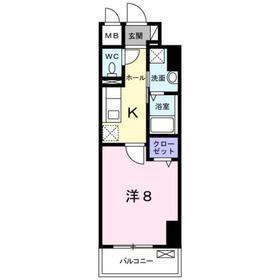 TS レガシア8階Fの間取り画像