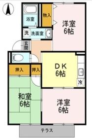 セジュール乙島1階Fの間取り画像