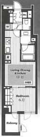 オープンレジデンシア神楽坂ウエストテラス1階Fの間取り画像
