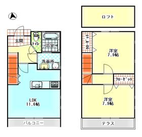 サンテラス1-2階Fの間取り画像