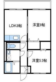 エクレール1階Fの間取り画像