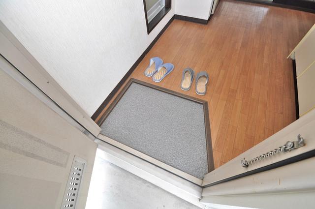 ミツワハイツⅠ 素敵な玄関は毎朝あなたを元気に送りだしてくれますよ。