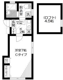 ライティングハウス小岩2階Fの間取り画像
