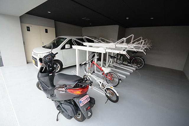 自転車置場も確保されてます