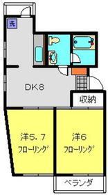 日吉駅 徒歩27分3階Fの間取り画像