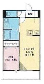 (仮称)エルメゾン皿沼3階Fの間取り画像