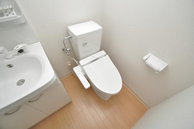 M'プラザ小阪駅前 スタンダードなトイレは清潔感があって、リラックス出来ます。