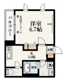 ハウス弥生2階Fの間取り画像