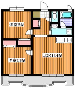 パラッツオ赤塚3階Fの間取り画像
