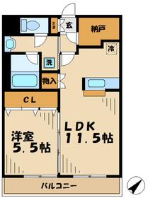 グランディール22階Fの間取り画像