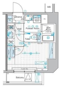 ブライズ関内MAXIV7階Fの間取り画像