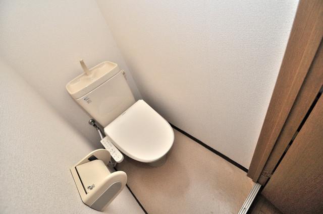 ピア小阪 清潔感たっぷりのトイレです。入るとホッとする、そんな空間。