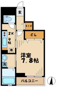 メゾンドカノン3階Fの間取り画像