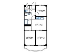 スカイマンション3階Fの間取り画像