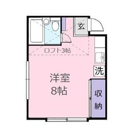 エレガンス上福岡1階Fの間取り画像
