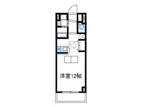 ルネスカトー弐番館1階Fの間取り画像