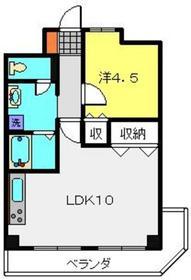 コーポカヤマ2階Fの間取り画像