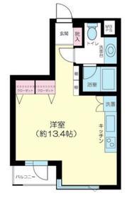 朝日マンション赤坂南部坂5階Fの間取り画像