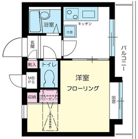 ライオンズマンション渋谷本町4階Fの間取り画像