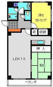 エスポワールⅢ2階Fの間取り画像