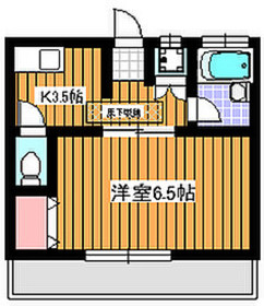 地下鉄赤塚駅 徒歩8分2階Fの間取り画像