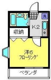 片倉町駅 徒歩18分2階Fの間取り画像