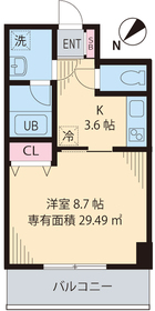 初台駅 徒歩13分3階Fの間取り画像