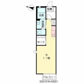 ソレイユ白山2階Fの間取り画像