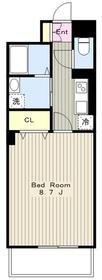 カーサ・アネーロ1階Fの間取り画像