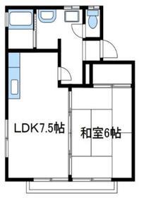 パレスマルコー2階Fの間取り画像