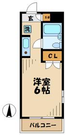 メゾンドエストラード4階Fの間取り画像