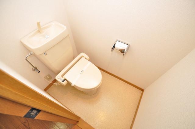 ロンモンターニュ小阪 清潔感たっぷりのトイレです。入るとホッとする、そんな空間。