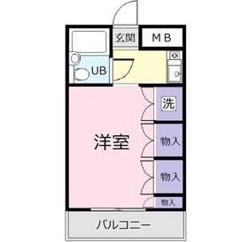 広瀬ビル2階Fの間取り画像