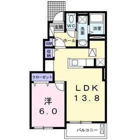 クラール1階Fの間取り画像