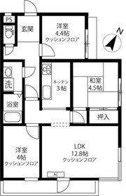 中銀用賀パークマンシオン2階Fの間取り画像