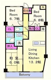 布田駅 徒歩4分3階Fの間取り画像