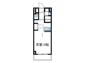 ルネスカトー弐番館2階Fの間取り画像