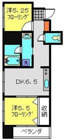 サンライズ福清ビル6階Fの間取り画像