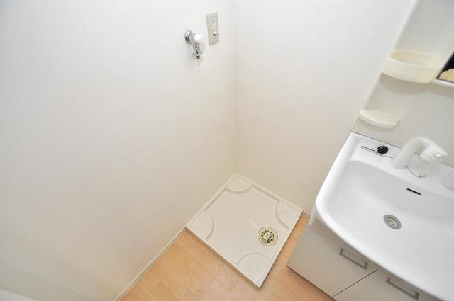 GRACE COURTⅡ 嬉しい室内洗濯機置場。これで洗濯機も長持ちしますね。
